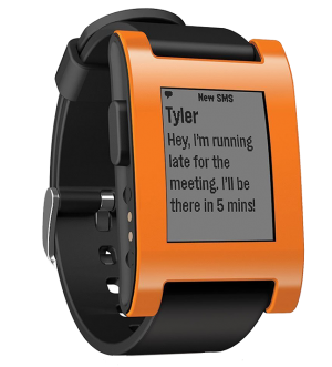 Pebble Smartwatch Orange