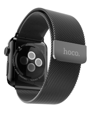 HOCO Milanese Apple watch band 38mm - Zwart